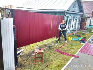 Забор из профнастила Королев - цены с установкой под ключ от 1124 руб.